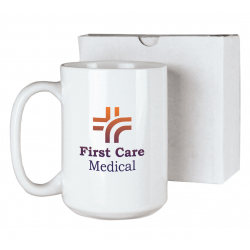 15 oz. White Coffee Mug